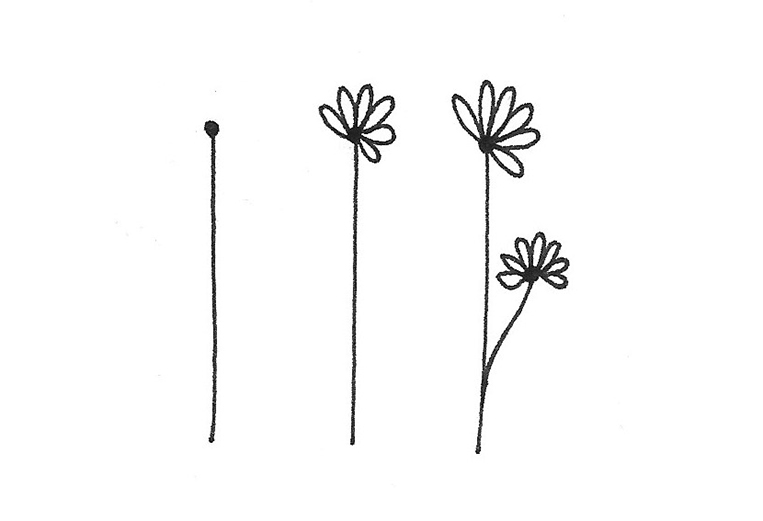 doodles floraux