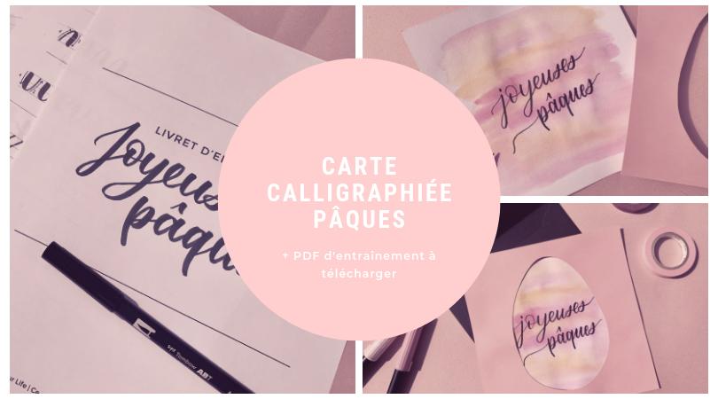 Carte calligraphiée Pâques