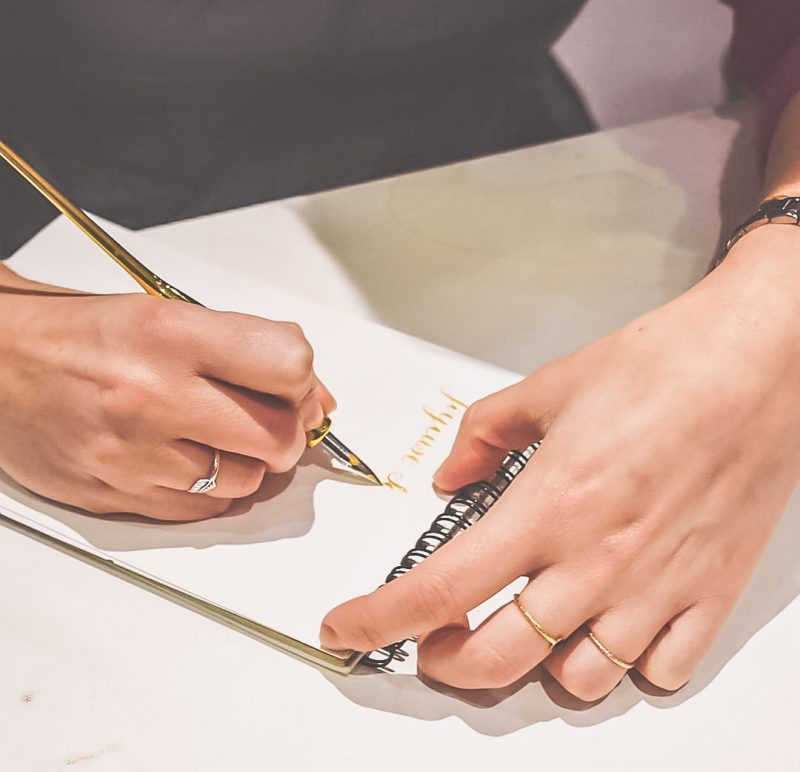 calligraphie anne-sophie